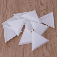 Пластиковые треугольные лотки для страз 10 шт.
