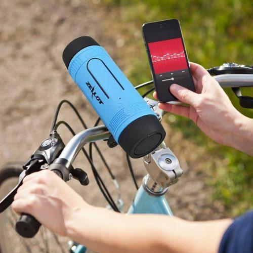 Zealot S1 Портативная беспроводная водонепроницаемая Bluetooth колонка динамик для велосипеда с фонариком, креплением на руль, карабином и POWER BANK