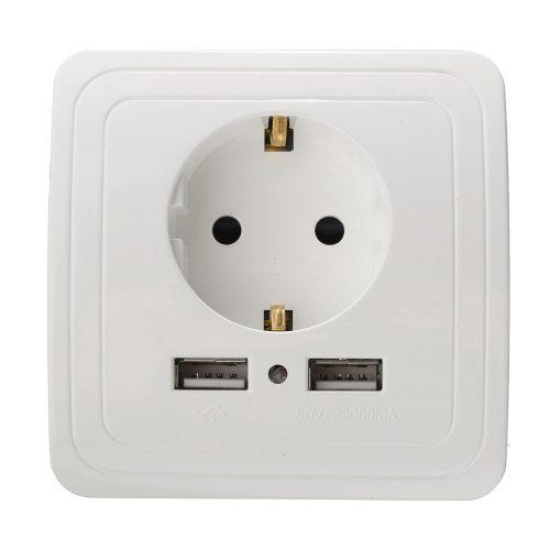 Розетка ЕС с двумя портами USB