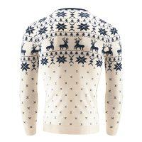 Мужской новогодний свитер пуловер джемпер с оленями и рождественским узором