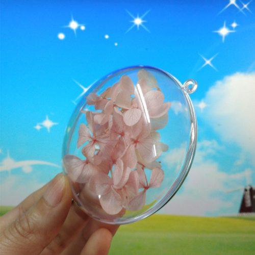 Пластиковые прозрачные елочные разъемные приплюснутые шары в наборе 10 шт.