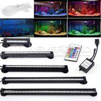 Светодиодная лампа 12-46 см для аквариума с пультом ДУ