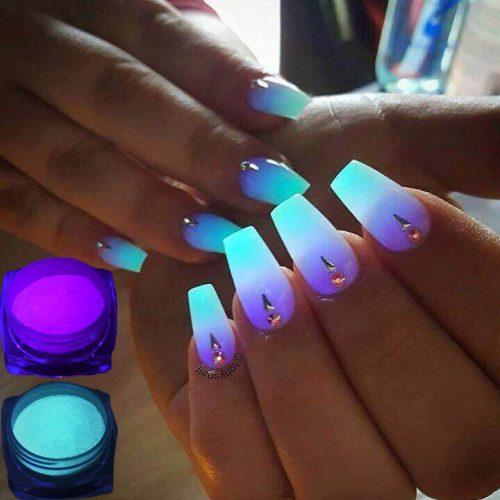 Светящийся в темноте неоновый глиттер порошок пигмент для ногтей