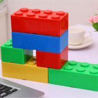 Коробочки для хранения в виде строительных блоков деталей лего