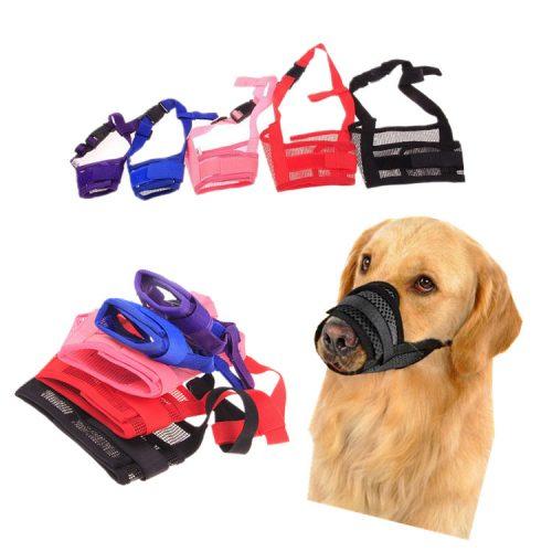 Тканевый намордник с сеточкой для собак