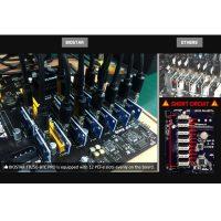 Профессиональные материнские платы 2 шт. Socket LGA 1151, память DDR4, 12 PCI-E слотов