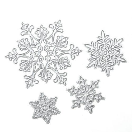 Снежинки ножи для вырубки для скрапбукинга 4 шт.