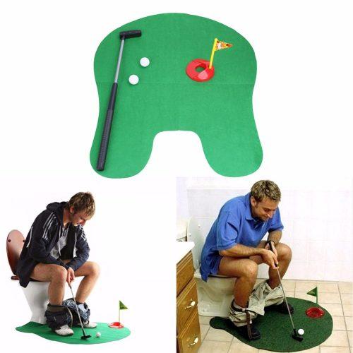 Мини игра коврик гольф для туалета