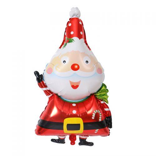 Большие новогодние воздушные шары в виде снеговика и Санта Клауса 100х50 см