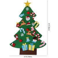 Большая настенная фетровая новогодняя ёлка с украшениями