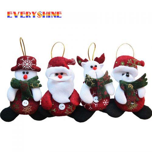 Новогодние елочные фетровые игрушки фигурки 4 шт. в наборе
