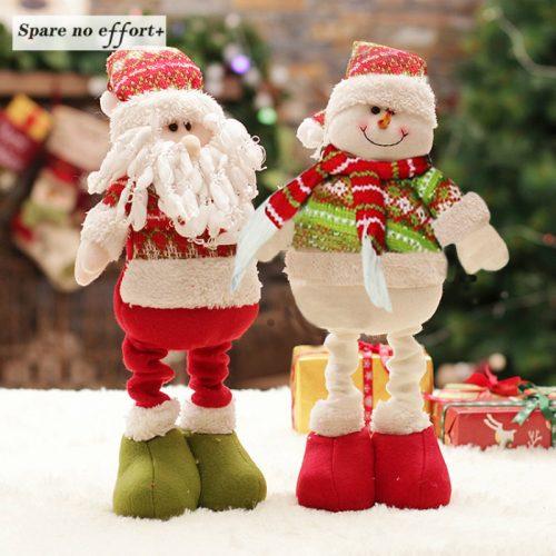 Новогодняя декоративная игрушка на выдвижных ногах (снеговик, Санта Клаус, олень, Дед Мороз)
