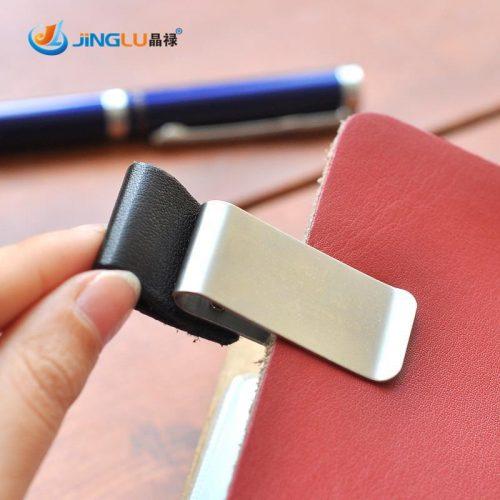 Металлическая закладка для ежедневников с держателем для ручки