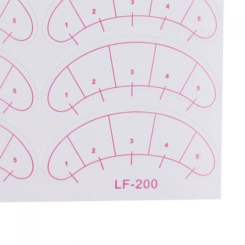 Бумажные самоклеящиеся патчи для наращивания ресниц с разметкой 70 пар.