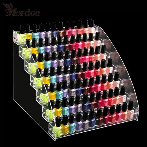 Акриловый прозрачный маникюрный стенд органайзер для лаков для ногтей