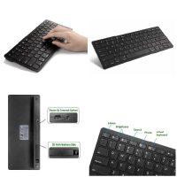 Ультратонкая беспроводная Bluetooth 3.0 клавиатура для Apple iPad, iphone, macbook, смартфонов, планшетов и ПК