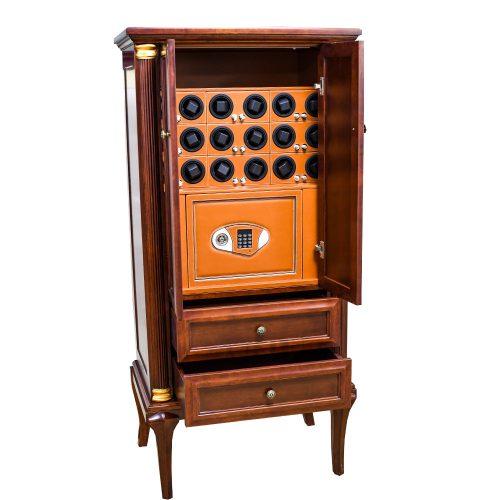 Шкаф сейф для хранения часов с автоподзаводом