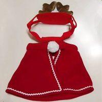 Новогодний красный костюм (мантия) оленя для кота