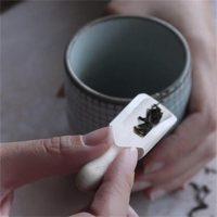 Деревянный маленький совок для специй, чая