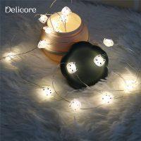Проволочная LED светодиодная гирлянда 2 м с котами-лампочками