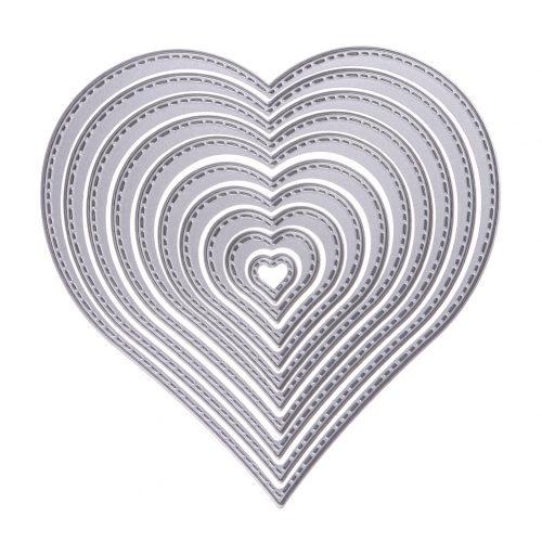 Сердца ножи для вырубки для скрапбукинга 10 шт.