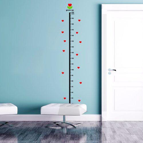 Линейка для измерения роста для ребенка – наклейка на стену