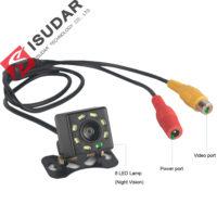 ISUDAR Водонепроницаемая широкоугольная автомобильная камера ночного заднего вида 8 LED