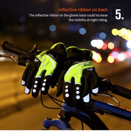 Утепленные зимние ветрозащитные мягкие велоперчатки INBIKE