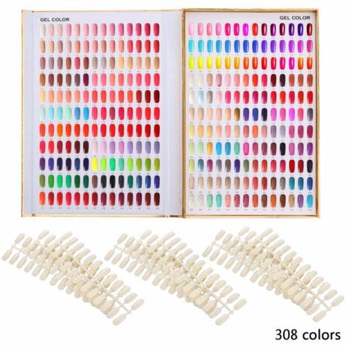 Демонстрационная книга дисплей цветов лаков для ногтей