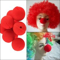 Красный клоунский нос 10 шт.
