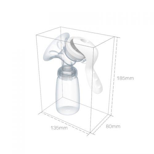 Ручной молокоотсос с бутылочкой 150 мл
