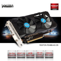 Видеокарта Yeston Radeon RX 460 GPU 4GB GDDR5 128 bit
