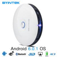 BYINTEK UFO R11 Цифровой портативный светодиодный 3D Wi-Fi Bluetooth проектор для домашнего кинотеатра DLP HD 1080 P