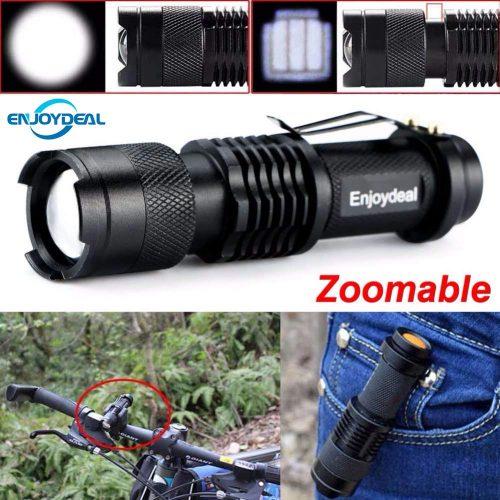 Карманный светодиодный аккумуляторный ручной ударопрочный водонепроницаемый LED фонарик 2000 люменов