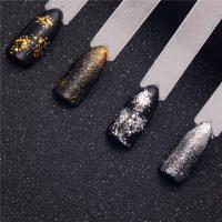 Втирка Хлопья юки для дизайна ногтей (золото и серебро)