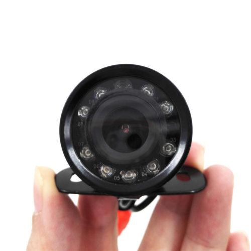 Водонепроницаемая широкоугольная противоударная автомобильная камера ночного заднего вида 9 LED