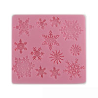 Силиконовый молд форма Снежинки для выпечки, мастики, полимерной глины