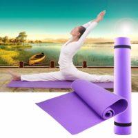 Спортивный гимнастический нескользящий фиолетовый коврик-мат 6 мм для фитнеса, йоги