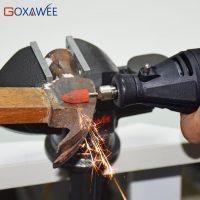 GOXAWEE Электрическая мини дрель с гибким валом, насадками и аксессуарами