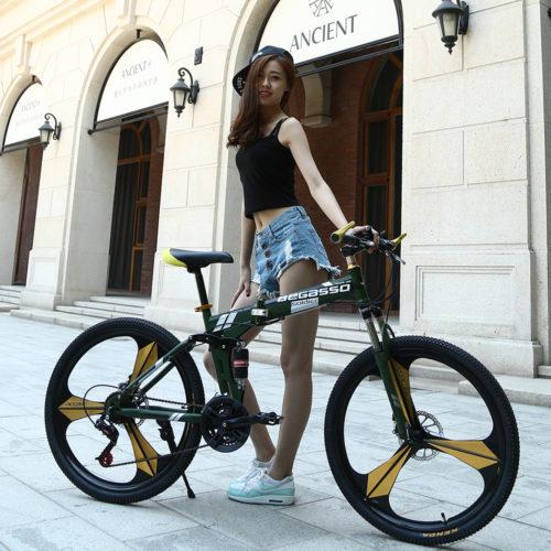 KUBEEN DLANT Горный складной велосипед с амортизацией (колеса 26″, 21 скорость)