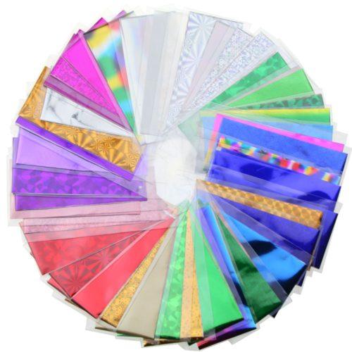 Переводная фольга для дизайна ногтей 48 листов 35 х 4 см