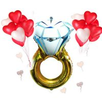 Большой воздушный шар Кольцо с бриллиантом