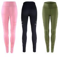 Спортивные черные, зеленые и розовые женские легинсы для фитнеса, тренировок