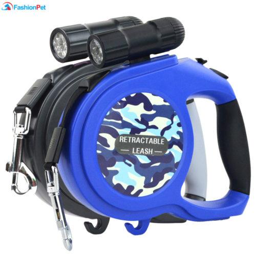 Поводок со встроенным фонариком 8 м 50 кг для выгула собак