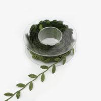 Шелковая лента в виде листьев 15 метров
