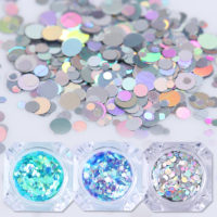 Полупрозрачные камифубики блестки для дизайна ногтей 1.5 г