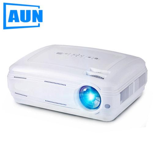 AUN AKEY2 Цифровой светодиодный WI-FI Bluetooth 4К проектор для домашнего кинотеатра 3500 люмен Android 6.0 Full HD 1080 P LED ТВ