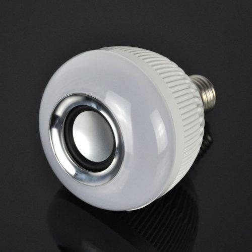 Светодиодная Bluetooth лампочка E27 12 Вт с динамиком и пультом ДУ
