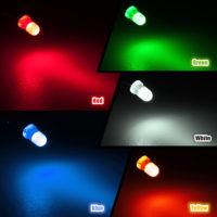 Светодиоды 100 шт, 3 мм, 5 цветов