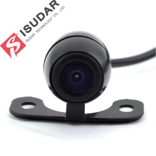 ISUDAR Водонепроницаемая автомобильная камера ночного заднего вида с парковочными линиями
